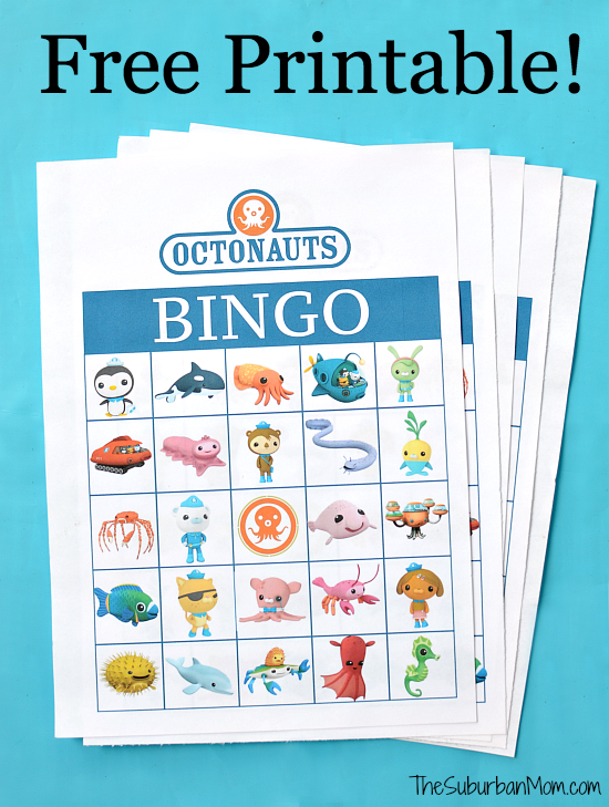 octonauts birthday party free printable bingo game thesuburbanmom