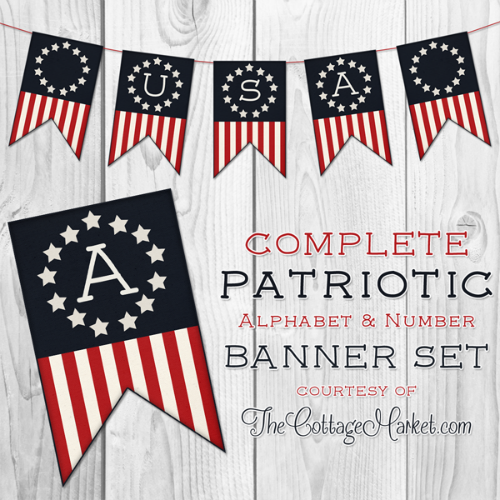 Free Printable Patriotic Banner USA