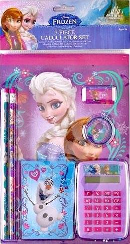 Frozen Calculater Stationary Set
