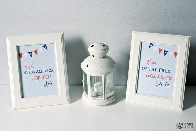 Patriotic Prints 4th of July Free Printable