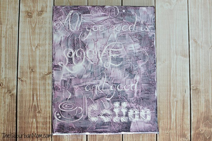 Mod Podge Tissue Paper Canvas