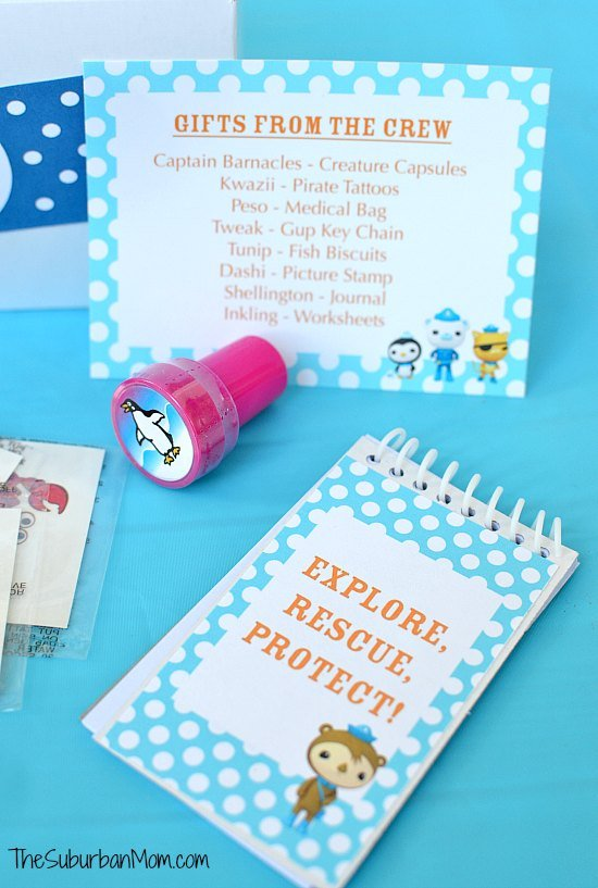 Octonauts Note Pad Free Printable Party Favor