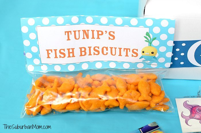 Octonauts Tunip Fish Biscuits