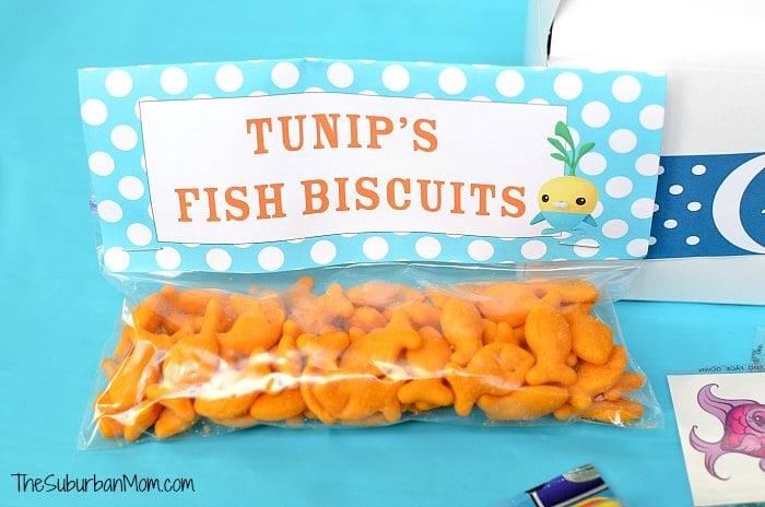 Octonauts Tunip Fish Biscuits