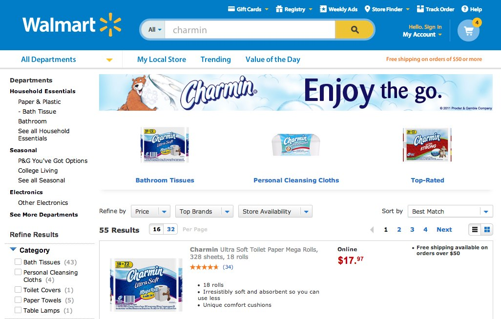 Walmart Charmin P&G
