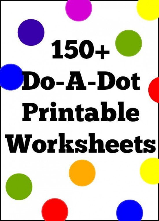 Dot Coloring Pages 150 Doadot Printable Worksheet Coloring Pages For Preschool