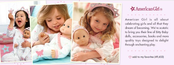 American Girl Bitty Baby Sale
