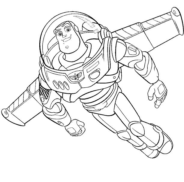 Buzz Toy Story Coloring Pages