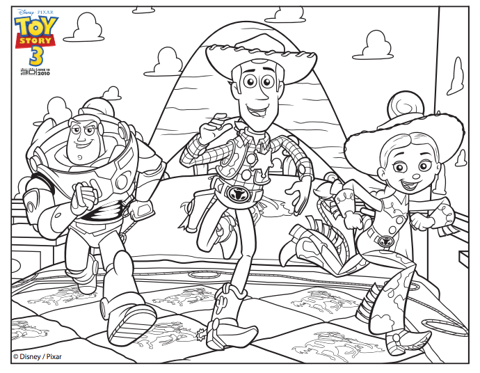 buzz woody jessie coloring page - Buzz Lightyear Coloring Pages Free