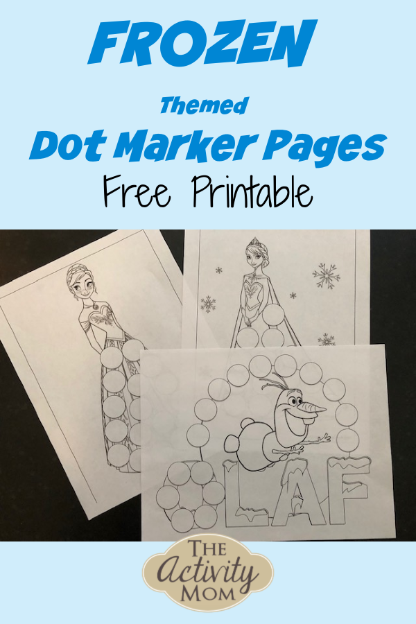 FREE Frozen Do A Dot Marker Printable