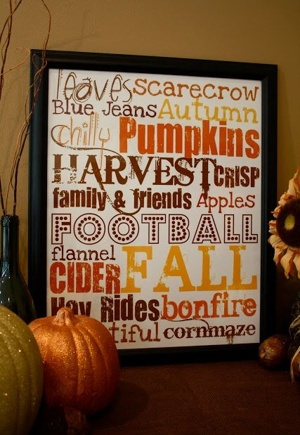 Fall Subway Sign Printable Freebie