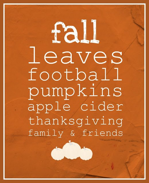 Free Printable Fall Sign 9