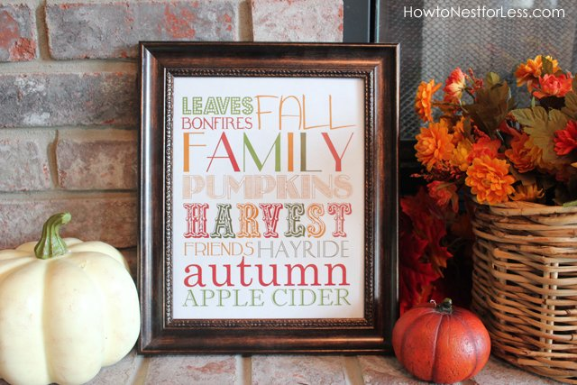 Free Printable Fall Subway Sign