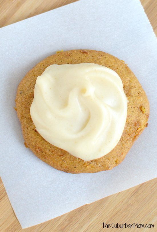 Iced Pumpkin Spice Cookie