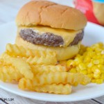 Ore Ida Golden Crinkles French Fries Burger