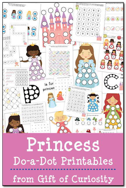Princess Do-a-Dot Printables