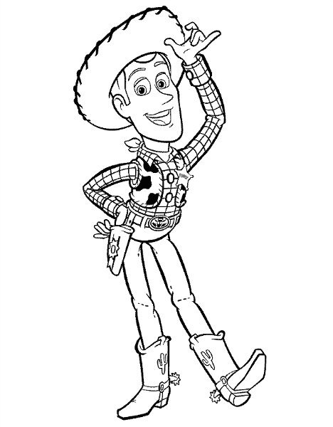 Toy Story Coloring Page Woody