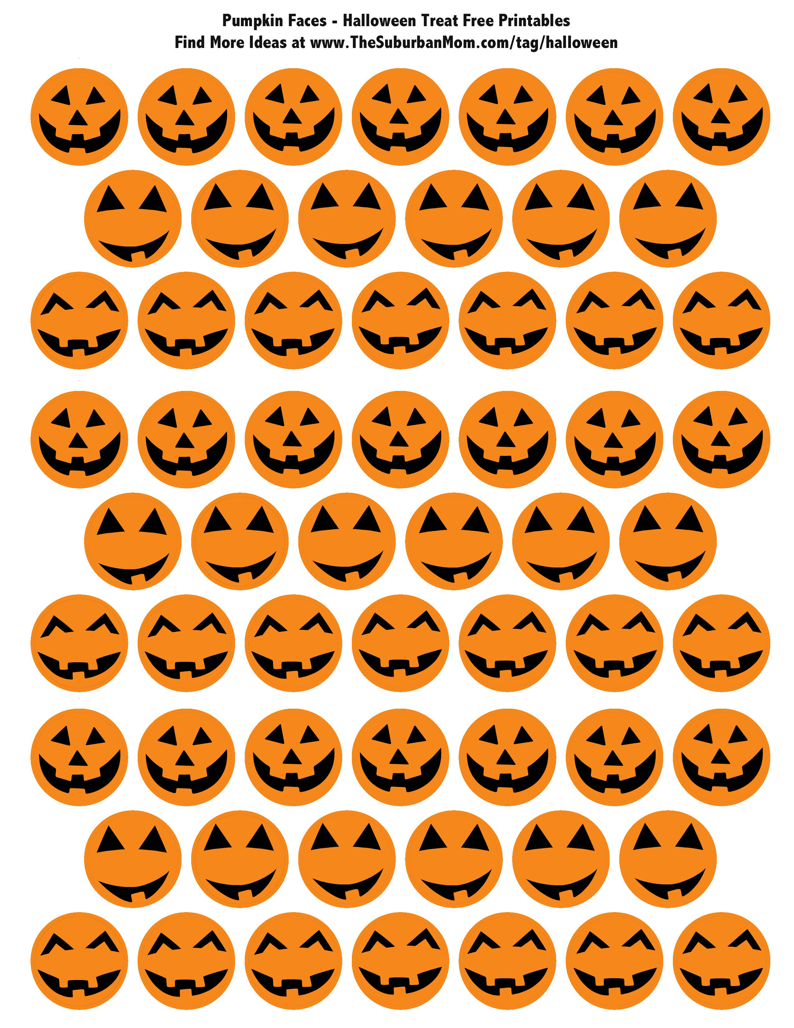 Halloween Pumpkin Treat Printable Tags