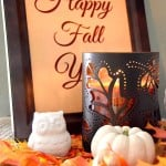 Pumpkin Candle White Owl