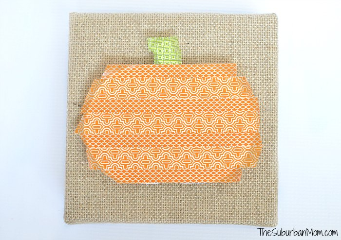 Pumpkin Washi Tape Craft