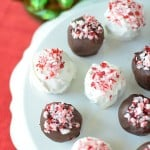 Chocolate Candy Cane Truffles