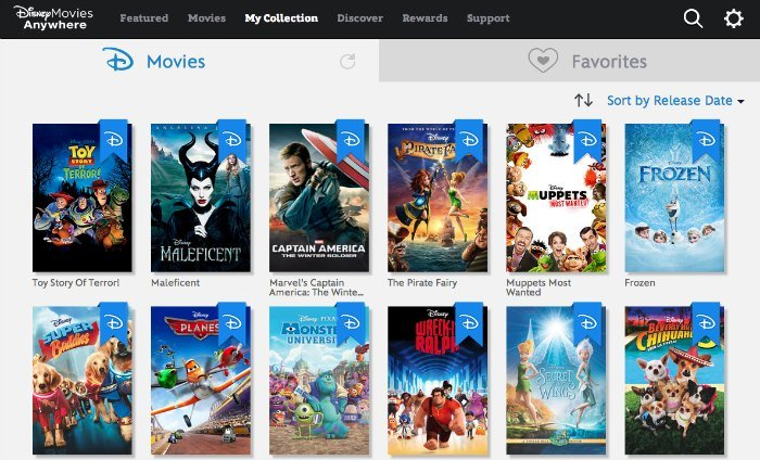 Disney Movies Anywhere Digital Library