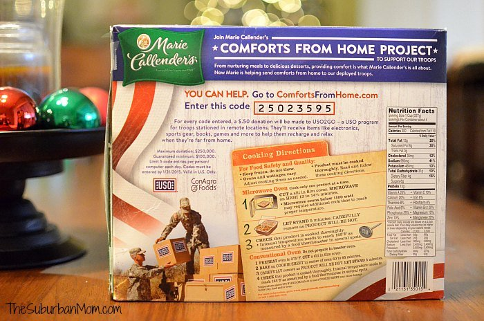 Marie Callender's Comforts From Home Project
