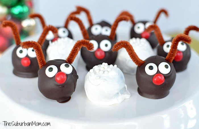 Oreo Cookie Ball Rudolph Snowball