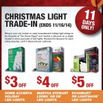 Home Depot 2014 Christmas Light Trade-In Event