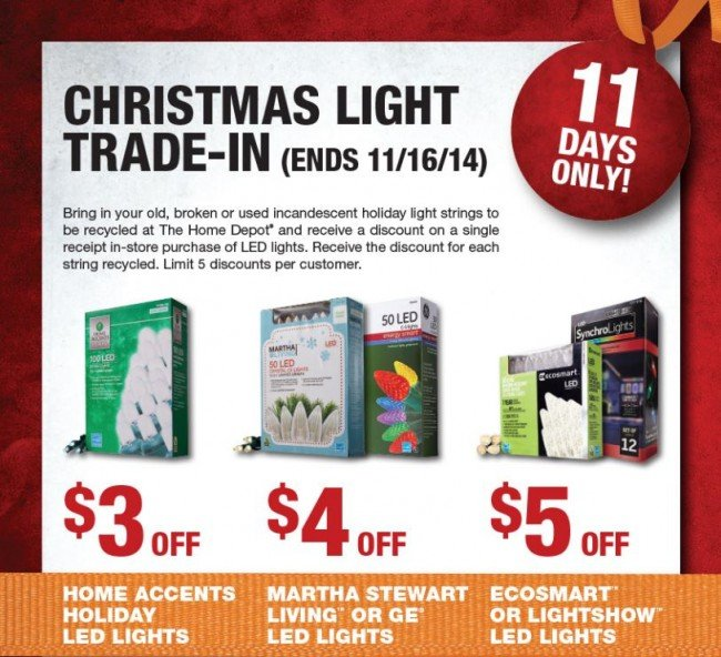 Home Depot 2014 Christmas Light Trade-In Event - TheSuburbanMom