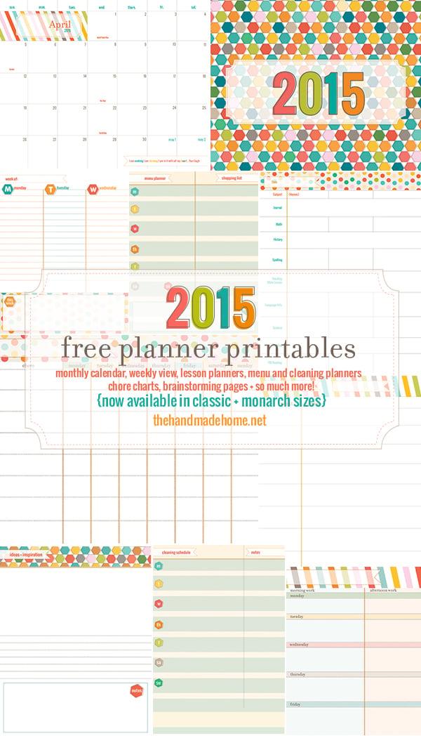 2015 Free Planner Printables