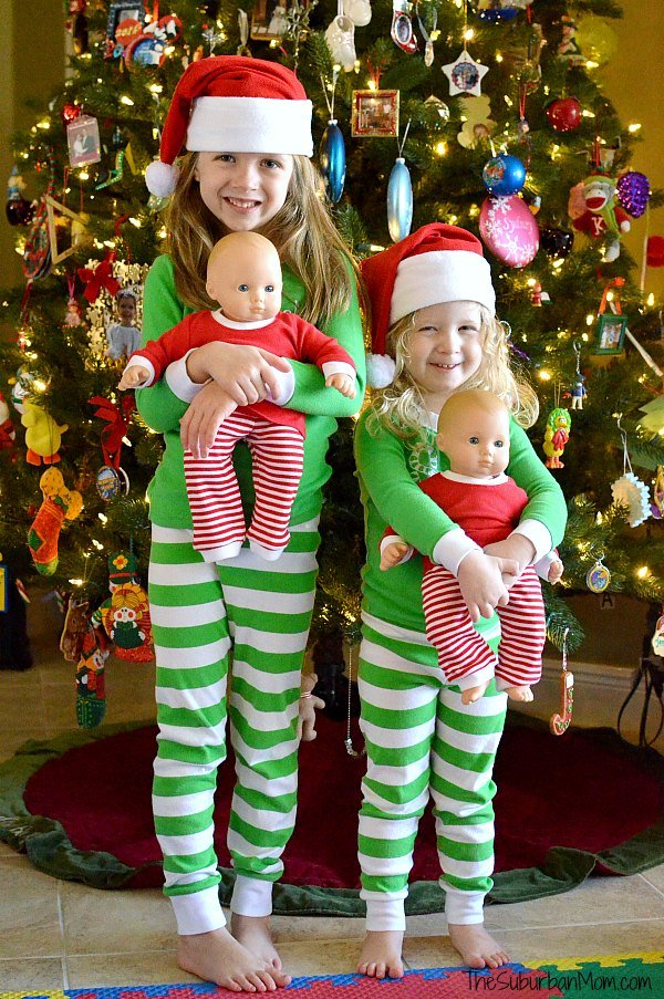 Bitty Baby Matching Christmas PJs
