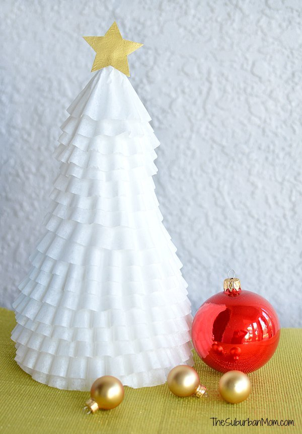 Coffee Filter Christmas Tree Craft