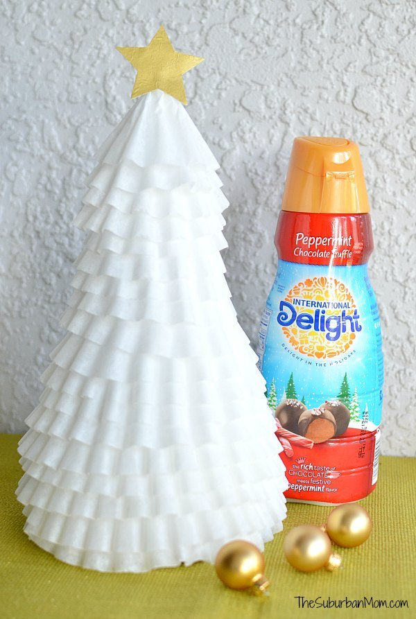 Easy Coffee Filter Christmas Tree Craft
