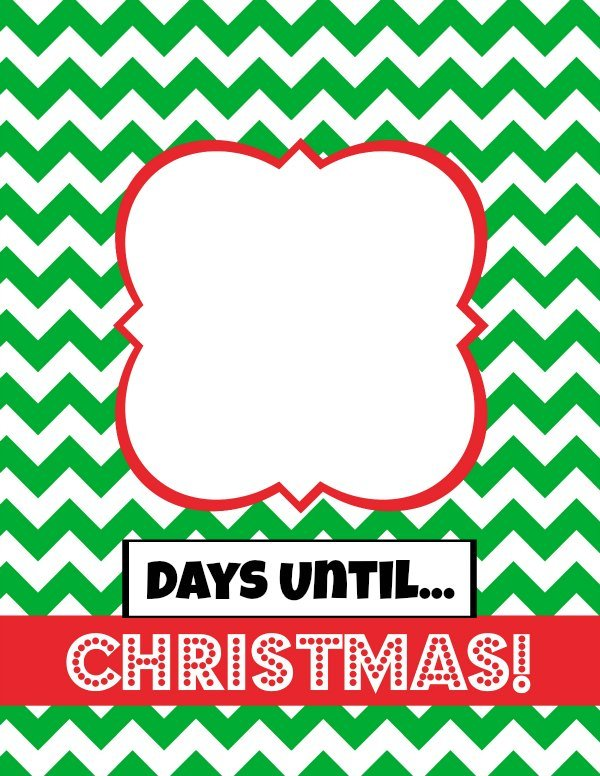 Countdown to Christmas Printable