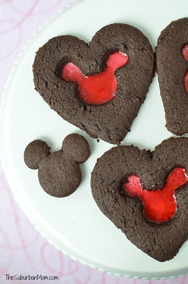 Heart Mickey Mouse Cookies