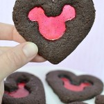 Valentine's Day Stained Glass Mickey Mouse Cookies