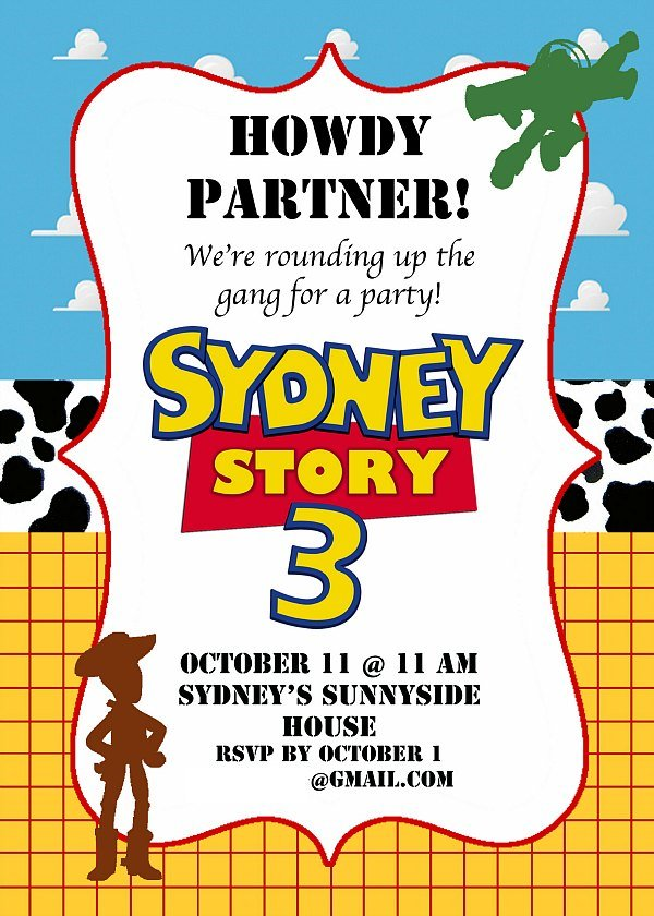 toy story birthday party ideas, Party invitations