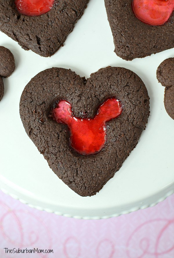 Valentine's Day Mickey Mouse Cookies
