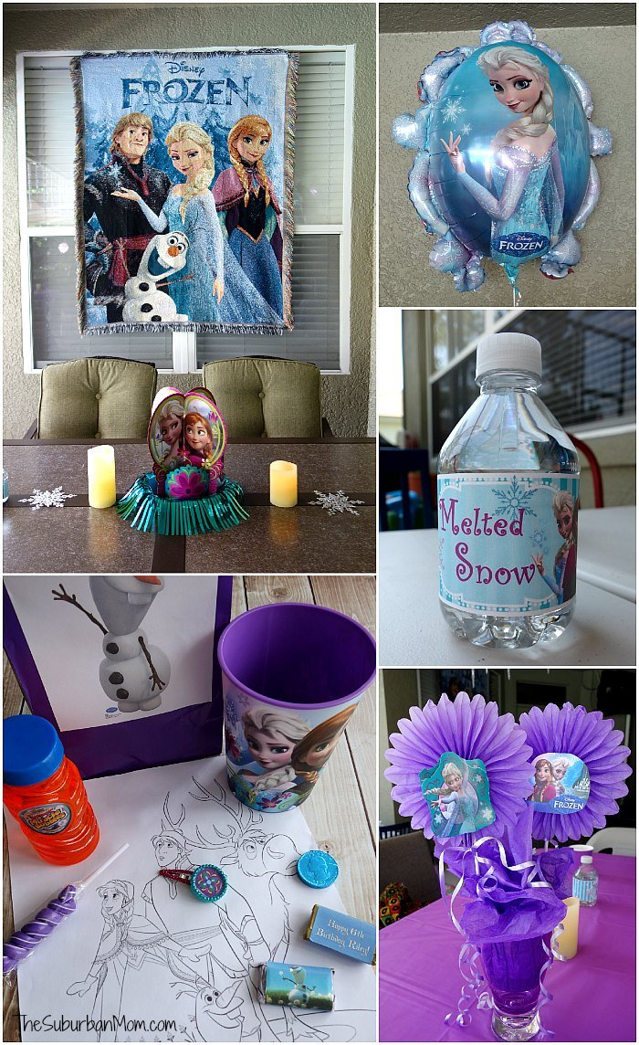 frozen birthday party decorations food games printables. Black Bedroom Furniture Sets. Home Design Ideas