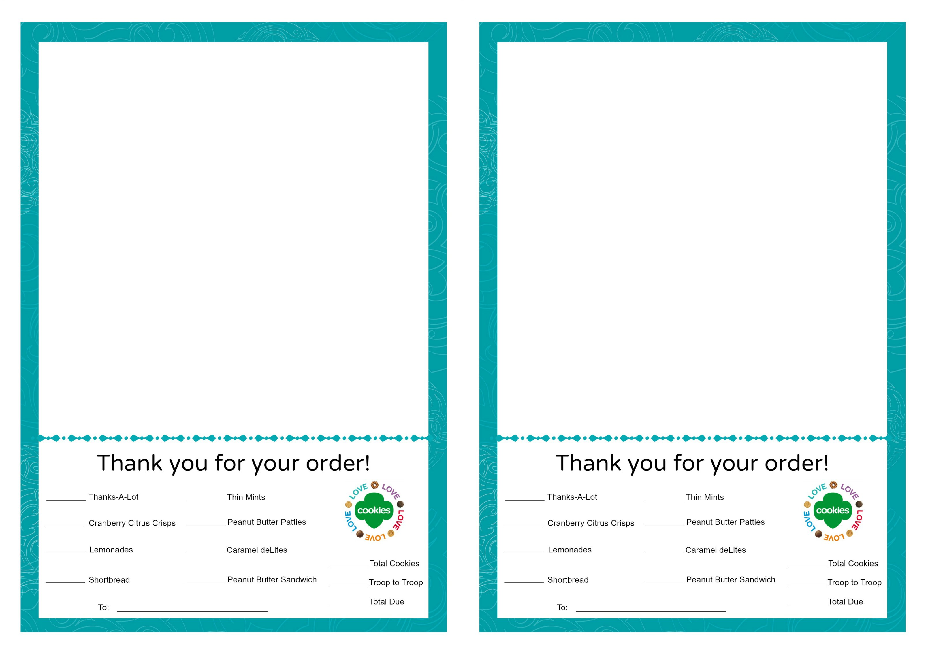 Girl scout cookie order form template - customizedessay.x.fc2.com