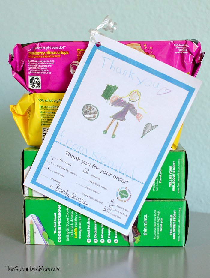 Girl Scout Cookies Thank You Note