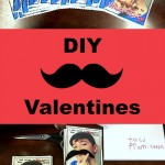 DIY Mustache Valentines Cards For Kids