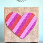 Easy Washi Tape Heart Craft