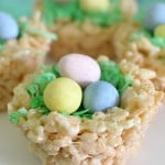 Easter Rice Krispies Treats Nests