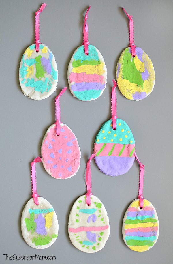 easter craft ideas preschoolers scented salt dough easter egg ornaments 4310