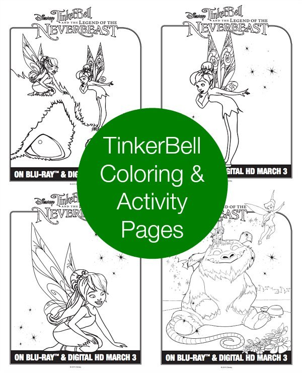 TinkerBell Word Search And Coloring Pages