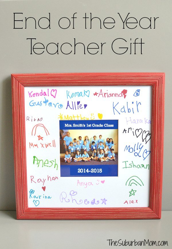 End of the Year Teacher Gift Frame