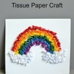 Tissue Paper Rainbow Craft (Plus Printable Template)