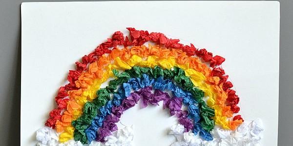 Rainbow Tissue Paper Craft